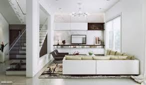 Living Room Beige Solid Hardwood Flloring Rug For Living Room Furnished  White Leather Loveseat Sofa Using