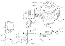 toro professional 74160 z222 z master 1997 sn 790001 799999 blower housing amp baffles