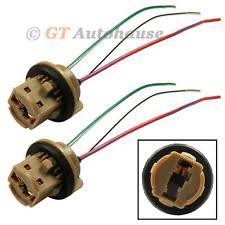 mitsubishi eclipse head lamp socket ebay Eclipse Main Wire Harness Socket 2x 7443 extension wire harness led bulb light lamp female socket adapter (fits mitsubishi eclipse) Light Socket Wiring