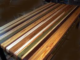 custom countertops made from reclaimed wood