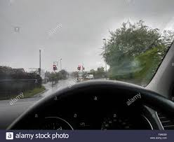 Hazard Lights In Rain Uk Car Hazard Lights Accident Stock Photos Uk Car Hazard