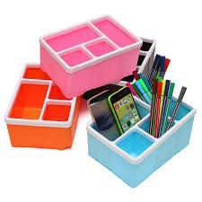 plastic office desk. Office Desk Storage Box 4 Slots Pencil Stationary Stand Plastic Holder For Remote Control Cell Phone