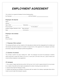Work Contract Agreement Labor Contract Template Invitation Templates employment 1
