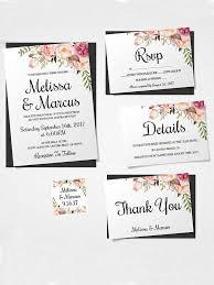 diy wedding invitation template. boho florals printable wedding template diy invitation y