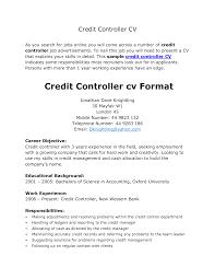 Best Ideas Of Resume Cv Cover Letter Financial Controller Cv Sample Job for  Credit Specialist Sample Resume