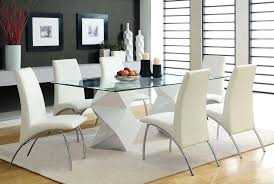 modern glass dining room sets captivating dining room sets glass top with glass dining table dining