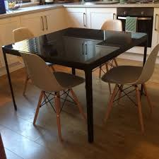 glassining table ikea tables melbourne about furniture glass dining excellent inspirations also kind black home and