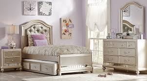 Sofia Vergara Petit Paris Champagne 6 Pc Twin Panel Bedroom - Teen Bedroom  Sets Colors