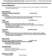 Graphic Design Resume Objective Statement Interior Design Objective Statement Interior Ideas 100 5