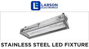 2ft stainless steel hazardous location lighting led fixture class i div ii corrosion resistant