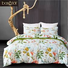 whole twin bedding set fl duvet cover sets american style ropa de cama bed set queen size bed linen king size bedding set canada 2019 from