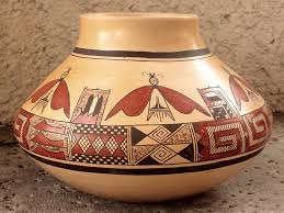 navajo pottery designs. By James Nampeyo, This Has A Classic Series Of Old Sikyatki Designs That Were Favored His Great Grandmother Along With The Butterfly Motif. Navajo Pottery