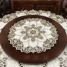 high end luxury european style american past cloth embroidered round table cloth table mat