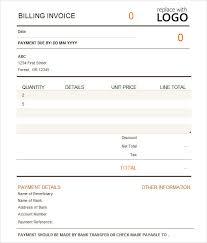 Bill Template Free Billing Invoice Template Excel
