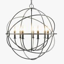 foucaults iron orb chandelier rustic iron medium 3d model max obj mtl fbx unitypackage prefab 1