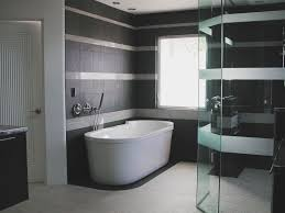 black and white bathroom accessories. Contemporary Black Bathtub Design Black And White Bathroom Accessories Wall Flooring Tile  Surround Modern One Piece Surrounds Inside