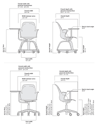 steelcase node chair dimensions