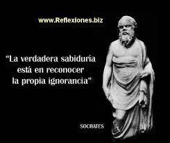 La sabiduría comienza desde la ignorancia | Frases filosoficas, Frases  motivadoras, Frases sabias