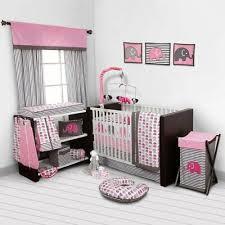 crib bedding set girl 10 piece pink