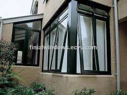aluminum double glazed awning windows