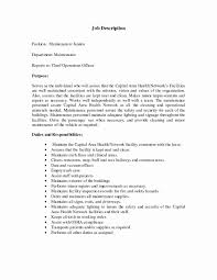 maintenance duties resume inspirational maintenance job description resume resume ideas