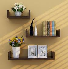 black color u shaped wall mount book