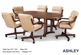 dining room chairs with wheels kitchen table casters elegant douglas cal living ashley inside cool applied