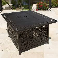 interior breakthrough propane fire pit coffee table living room 48 inch rectangular cast aluminum
