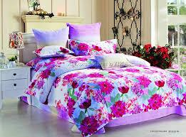 hot bright color red fl full queen king reactive sanding bedding 4pcs comforter