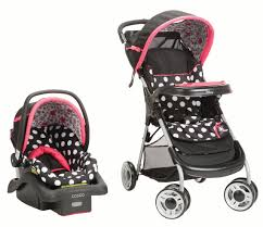 <b>Disney Baby</b> Lift & Stroll™ Plus Travel System, <b>Minnie</b> Coral Flowers ...