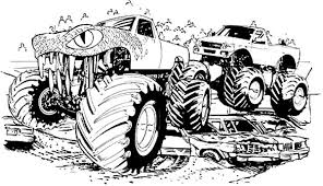 Small Picture Bigfoot Monster Jam Coloring Pages Color Luna