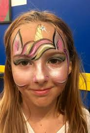 fast unicorn forehead design easy face paintingface