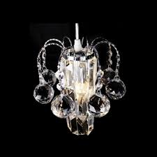 swag style mini chandelier with maximum elegance featuring chic clear crystal elements