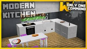 Furniture Kitchen Minecraft Modern Kitchen Furniture With Only Two Command Blocks