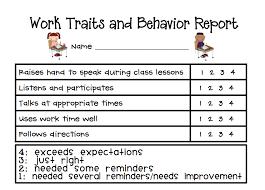 Weekly Behavior Sheet Evidence Of Learning Individual