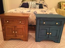 Painted Oak Bedroom Furniture 80s Oak Bedroom Nightstand Redone With Annie Sloan Chalk Paint