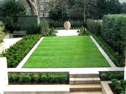 Small Picture formal contemporary green garden with perfect lawn edged in