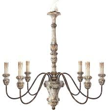white farmhouse chandelier distressed