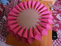 How To Make Paper Cones For Flower Petals Paper Lotus 6 Steps With Pictures