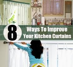 Kitchen Curtain Patterns Stunning 48 Ways To Improve Your Kitchen Curtains Diy Home Life Creative