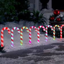 Candy Cane Lights 3 Pack Gemmy Orchestra Of Lights 8 Pack Led Colour Changing Candy Cane Pathway Lights