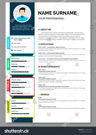 Modern Resume Template Vector Jobs Applications Stock Vector