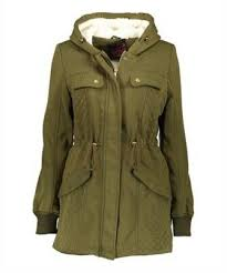 Wenven Womens Mid Length Hooded Sherpa Lined Parka Jacket
