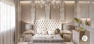 modern bedroom with bathroom. Spazio Interior Decoration LLC Modern Bedroom With Bathroom T