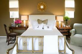 with mismatched nightstands