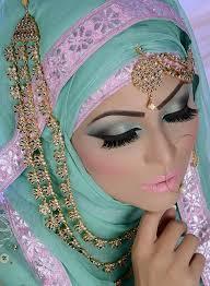 colorful eyeshadow and stani bridal makeup