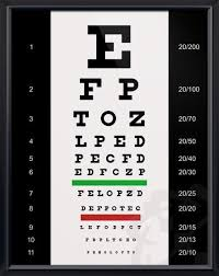 Free Printable Snellen Eye Test Chart Snellen Eye Chart 20x26 Anatomy Drawings Playing Doctor