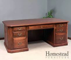 executive wood desk canted executive desk used wood executive desk for
