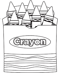 printable crayon box coloring page 98174 fancy template to color