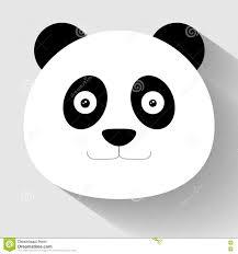 Panda Face Flat Icon. Stock Vector - Image: 74460481